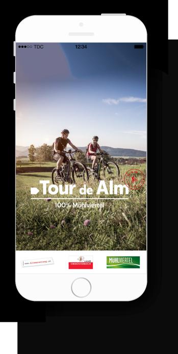 Tour de Alm App Splitscreen